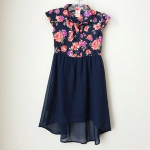 Faded Glory | Girls Floral Button Top Dress Sz6-6x